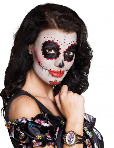 Brazalete gótico camafeo mujer Día de los muertos-1