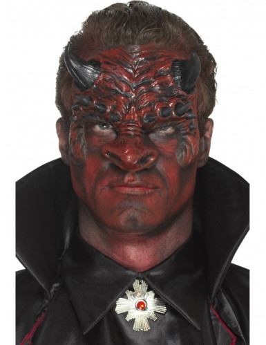 Prótesis gomaespuma látex diablo adulto Halloween-2