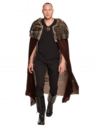 Capa señor vikingo lujo adulto 150 cm