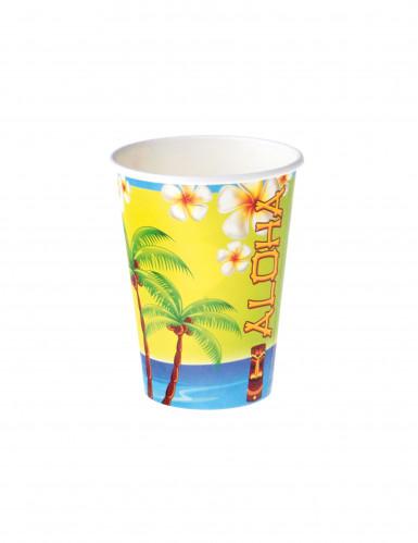 8 Vasos de cartón Aloha 25 cl