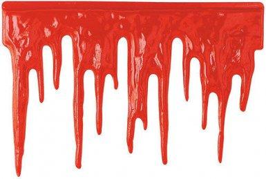 Decoración mural de Halloween gotas de sangre roja