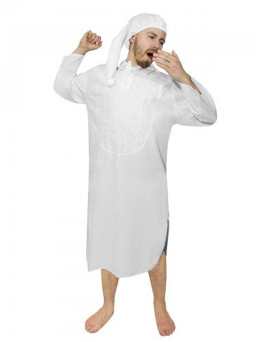 Disfraz camisón clásico adulto blanco