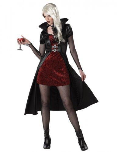Disfraz vampiresa mujer rojo Halloween