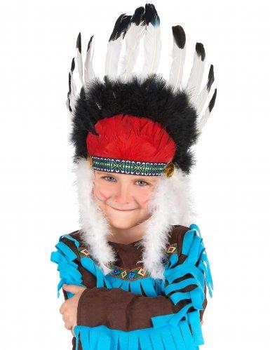 Cofia jefe indio con plumas niño