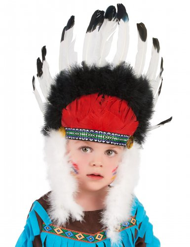 Cofia jefe indio con plumas niño-1