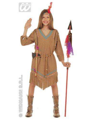 Disfraz india marrón para niña