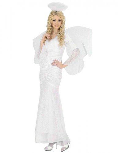 Disfraz ángel blanco mujer