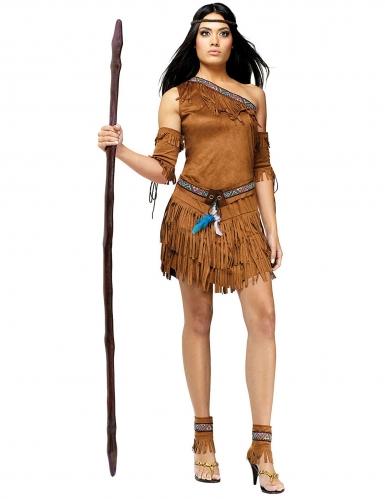 Disfraz de india mujer marrón