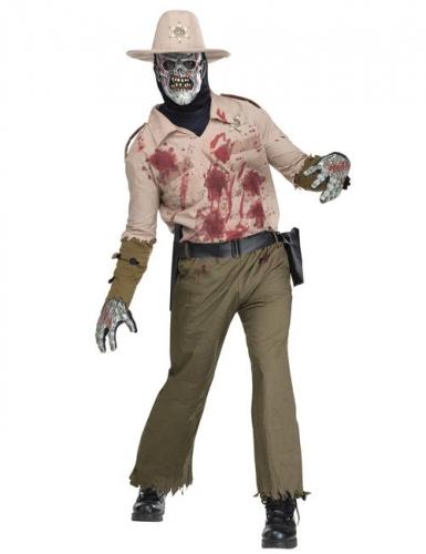 Disfraz zombie sheriff hombre
