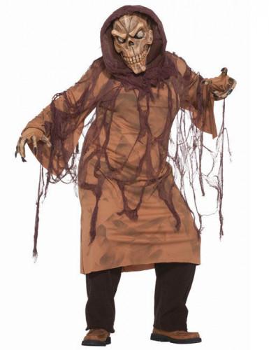 Disfraz esqueleto marrón adulto
