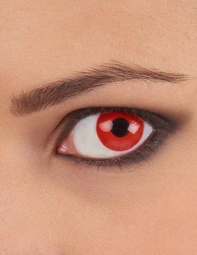 Lentillas fantasia ojo rojo 1 año adulto