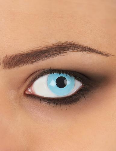 Lentillas fantasía ojo azul hielo 1 año adulto