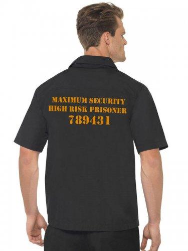 Camisa hombre prisionero negro y naranja-1