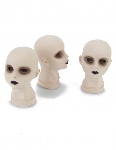 Decoración cabezas de muñecas calaveras