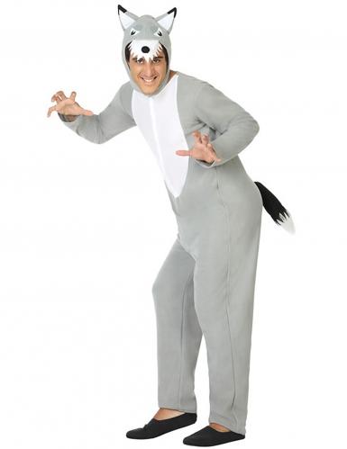 Disfraz lobo gris hombre