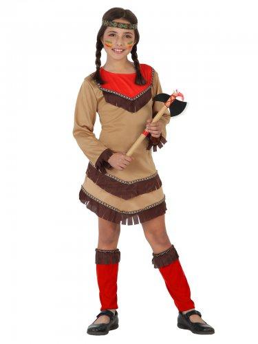 Disfraz pequeña india del salvaje Oeste niña