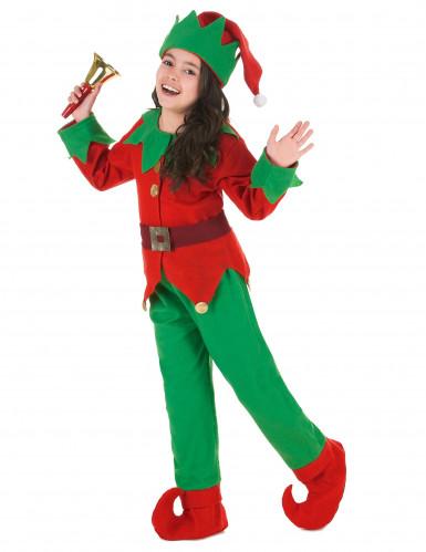Disfraz completo elfo de Navidad niño-1