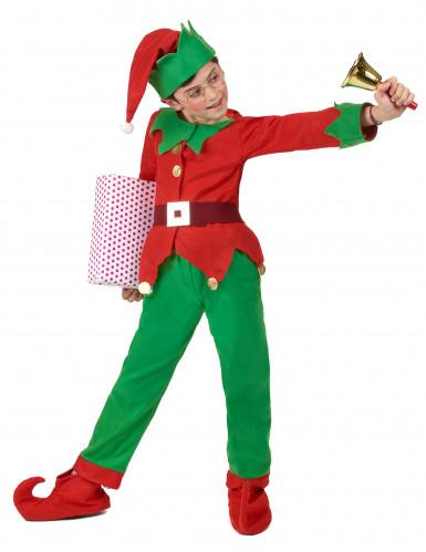 Disfraz completo elfo de Navidad niño-2