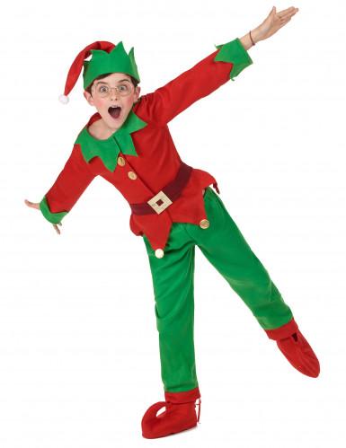 Disfraz completo elfo de Navidad niño-4