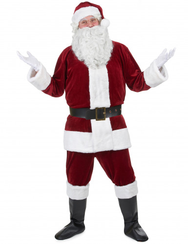 Disfraz de Papá Noel super lujo adulto