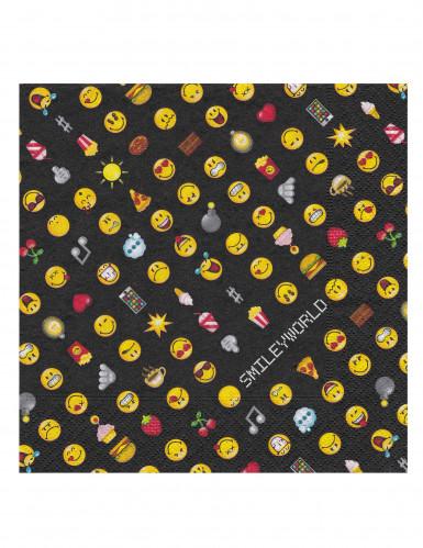20 Servilletas de papel Smiley Emoticonos™