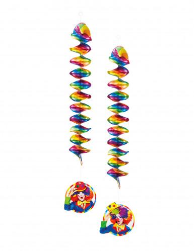 2 Decoraciones para colgar payasos 60 cm.