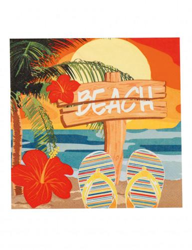 12 Servilletas de papel Beach party 33x33