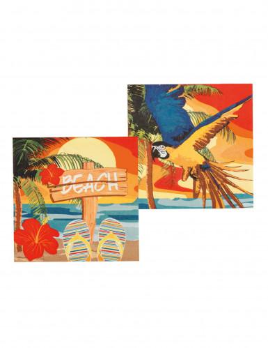 12 Servilletas de papel Beach party 33x33-1