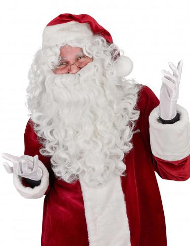 Peluca y barba lujo Papá Noel adulto