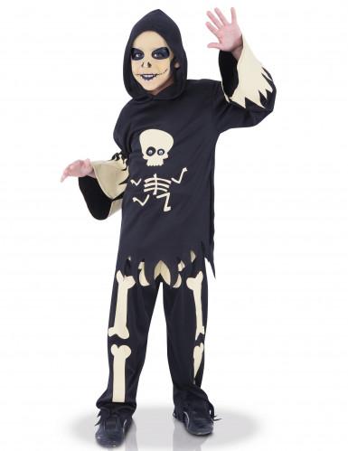 Disfraz esqueleto con ojos móviles niño