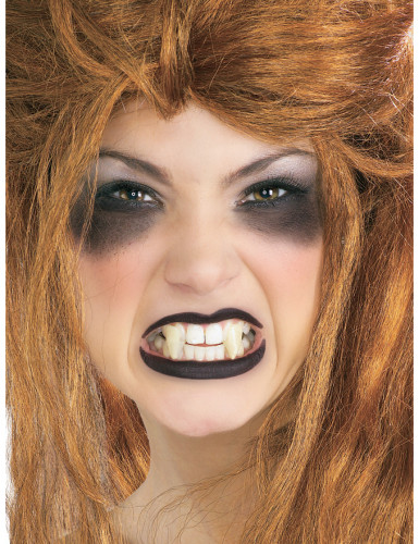 Colmillos de vampiro blancos adulto
