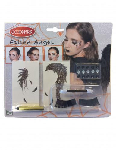 Kit maquillaje ángel negro mujer