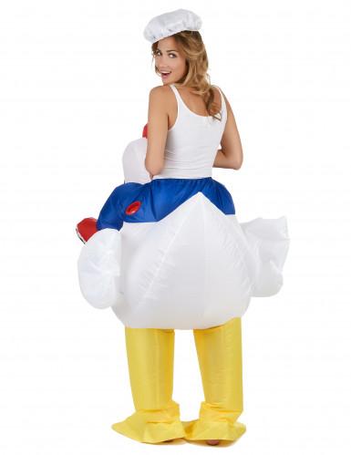Disfraz de pollo inflable adulto-2
