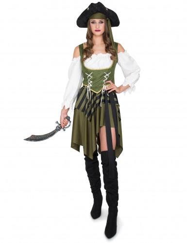Disfraz de pirata verde mujer-1