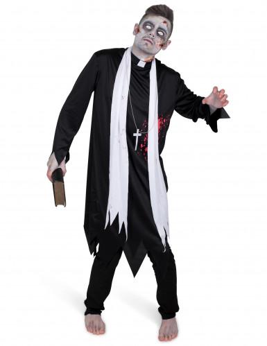 Disfraz de cura zombie hombre