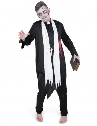 Disfraz de cura zombie hombre-1