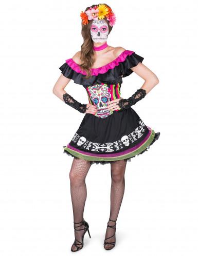 Disfraz Mariachi Día de los Muertos Mujer-1