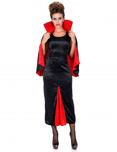 Disfraz de condesa Dracula terciopelo mujer-1