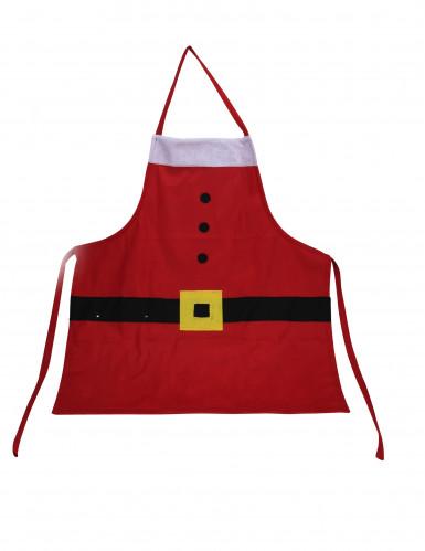 Delantal Papá Noel adulto