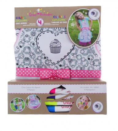 Delantal lavable para personalizar Miss cupcake niña-1