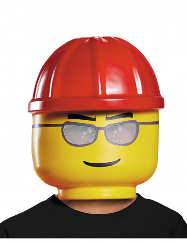 Máscara trabajador de la construcción LEGO® niño
