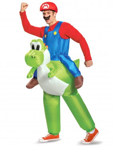 Disfraz hinchable Mario a caballito de Yoshi de Nintendo® para adulto