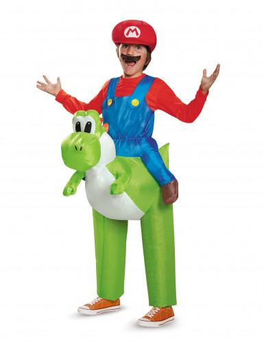 Disfraz hinchable Mario sobre Yoshi Nintendo™ niño