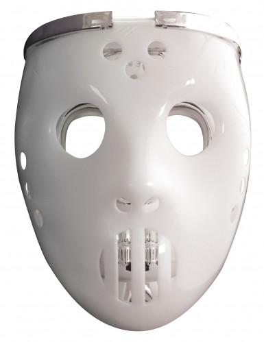 Máscara 2 en 1 luminosa jugador de hockey adulto