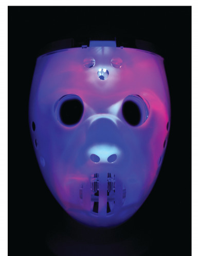 Máscara 2 en 1 luminosa jugador de hockey adulto-1