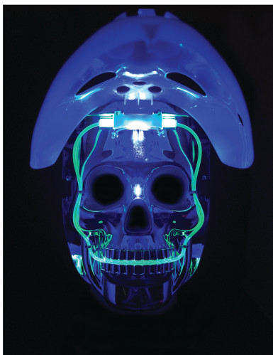 Máscara 2 en 1 luminosa jugador de hockey adulto-3