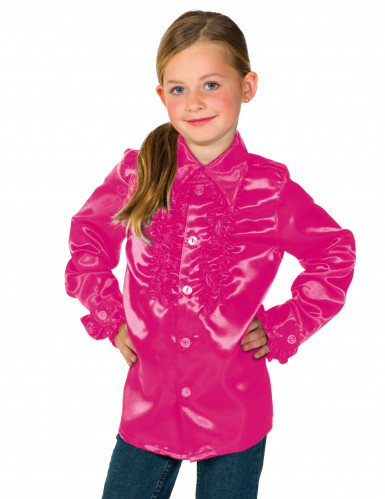 Camisa rosa con volantes niño