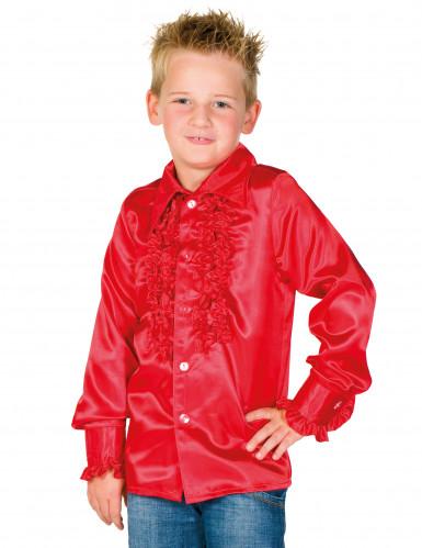 Camisa roja con volantes niño