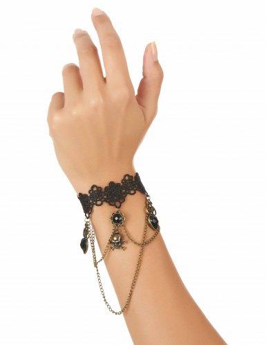 Brazalete encaje negro joya mano adulto-1