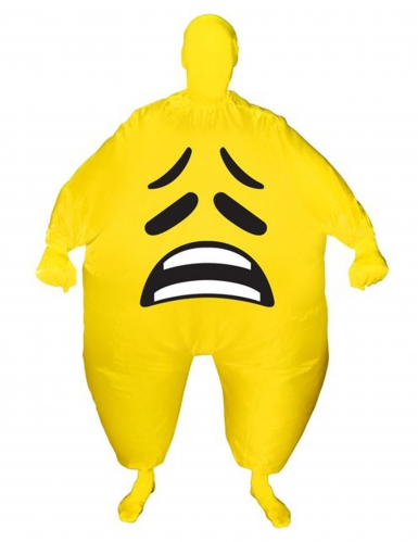 Disfraz inflable rostro triste adulto Morphsuits